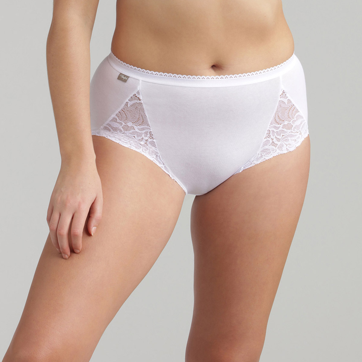 2 Culottes Midi blanches – Coton & Dentelle, , PLAYTEX