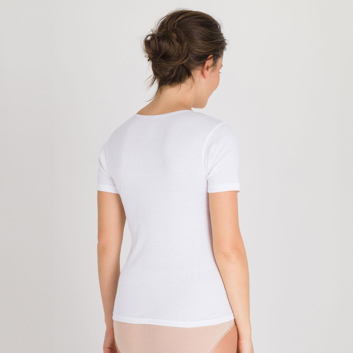 Top manches courtes blanc - Cotton Feminine-PLAYTEX
