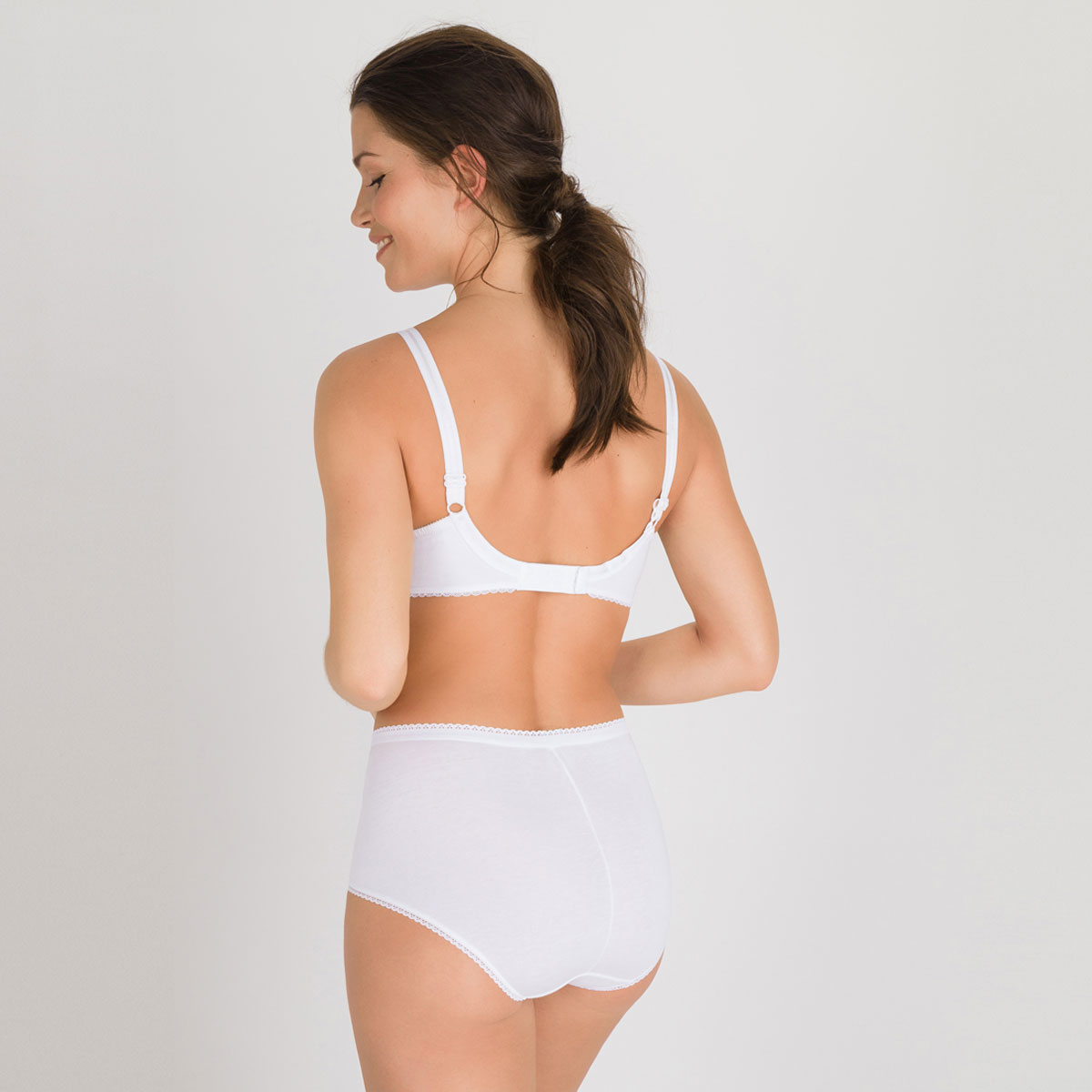 3 Culottes Maxi blanches – Coton & Dentelle, , PLAYTEX