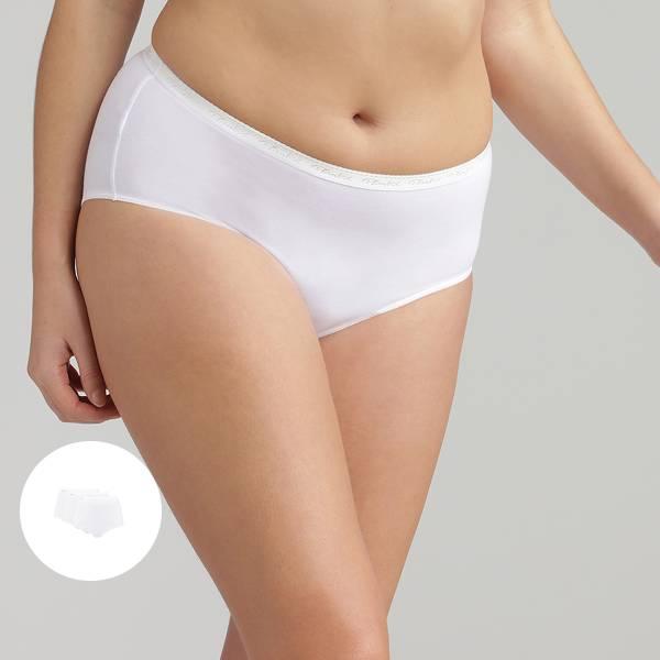 3 Culottes Maxi blanches  – Coton Stretch, , PLAYTEX