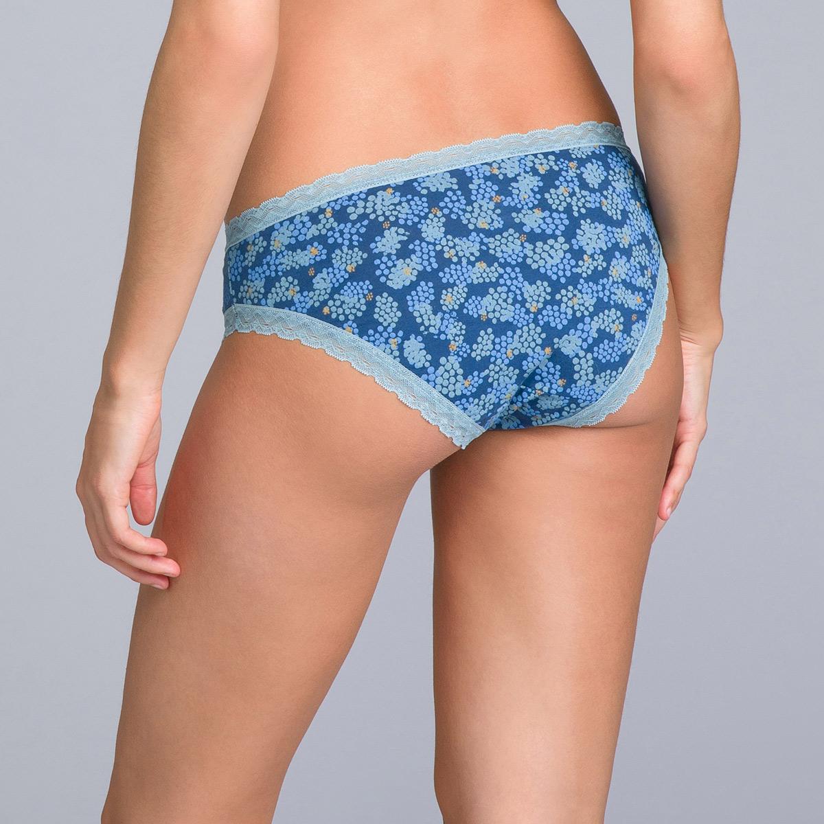 Lot de 2 culottes coton bleues unie et imprimée - Basic Cotton Fancy, , PLAYTEX