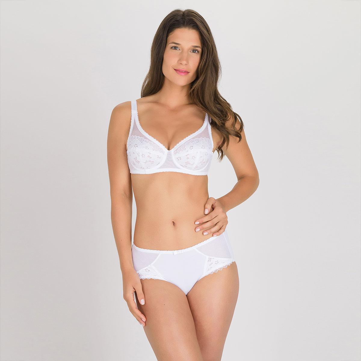 Soutien-gorge emboîtant blanc  – Cœur Croisé Dentelle-PLAYTEX