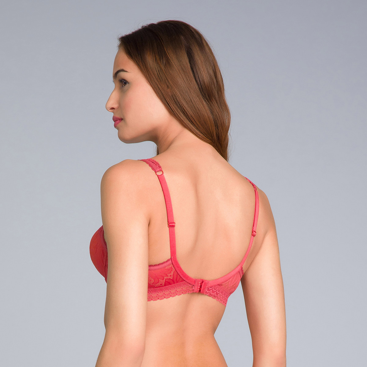 Soutien-gorge invisible balconnet rouge - Invisible Elegance-PLAYTEX