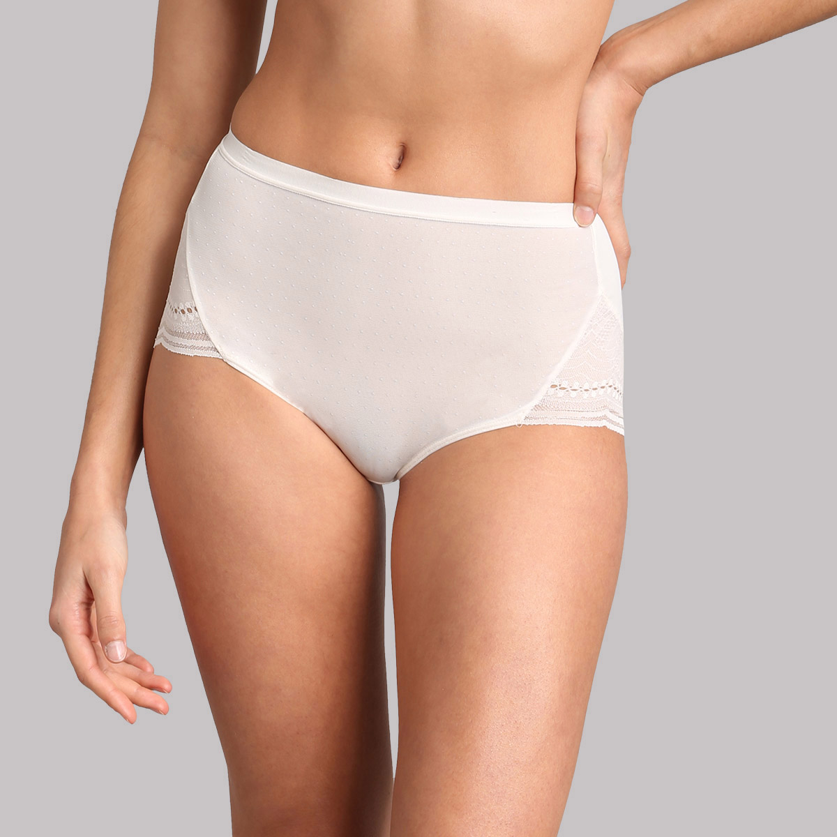 Culotte maxi dentelle ivoire Secret Comfort, , PLAYTEX