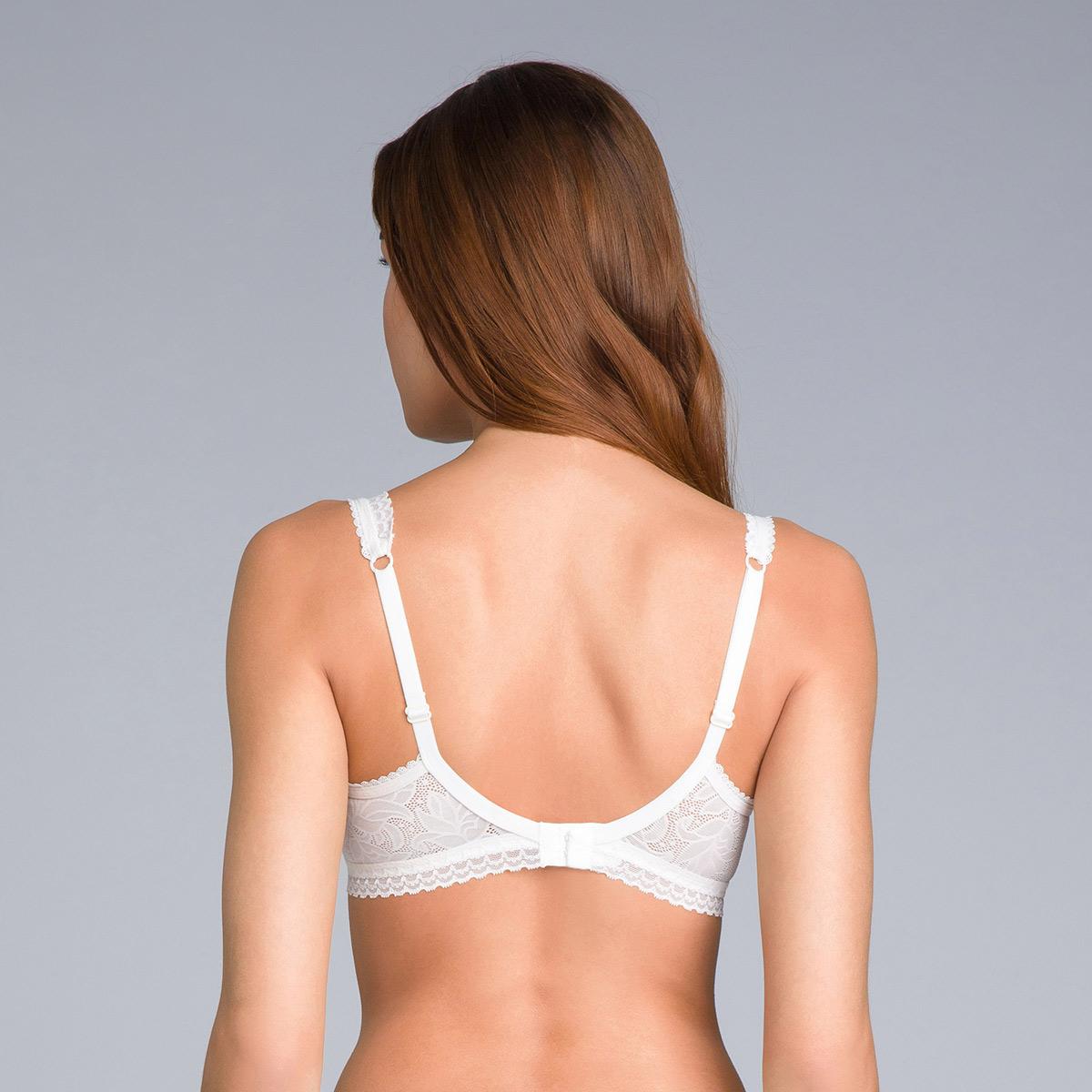 Soutien-gorge invisible balconnet blanc ivoire - Invisible Elegance, , PLAYTEX