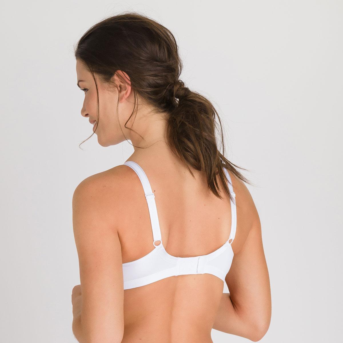 2 Soutiens-gorge blancs sans armatures  - Cœur Croisé Micro-PLAYTEX