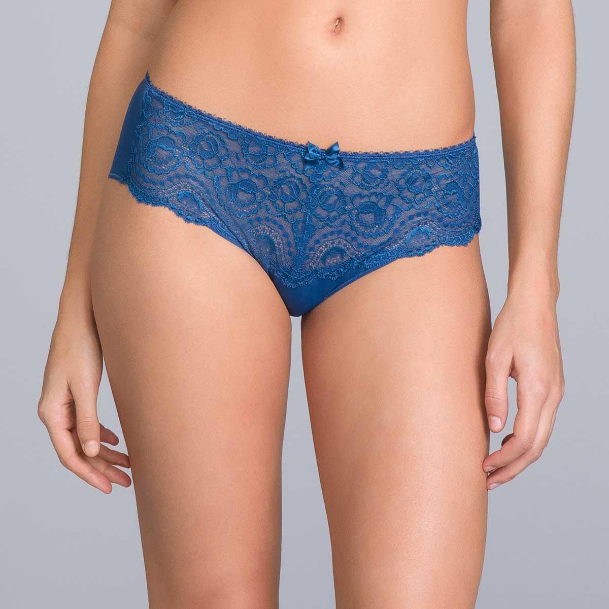 Culotte dentelle Midi bleu marine - Flower Elegance, , PLAYTEX
