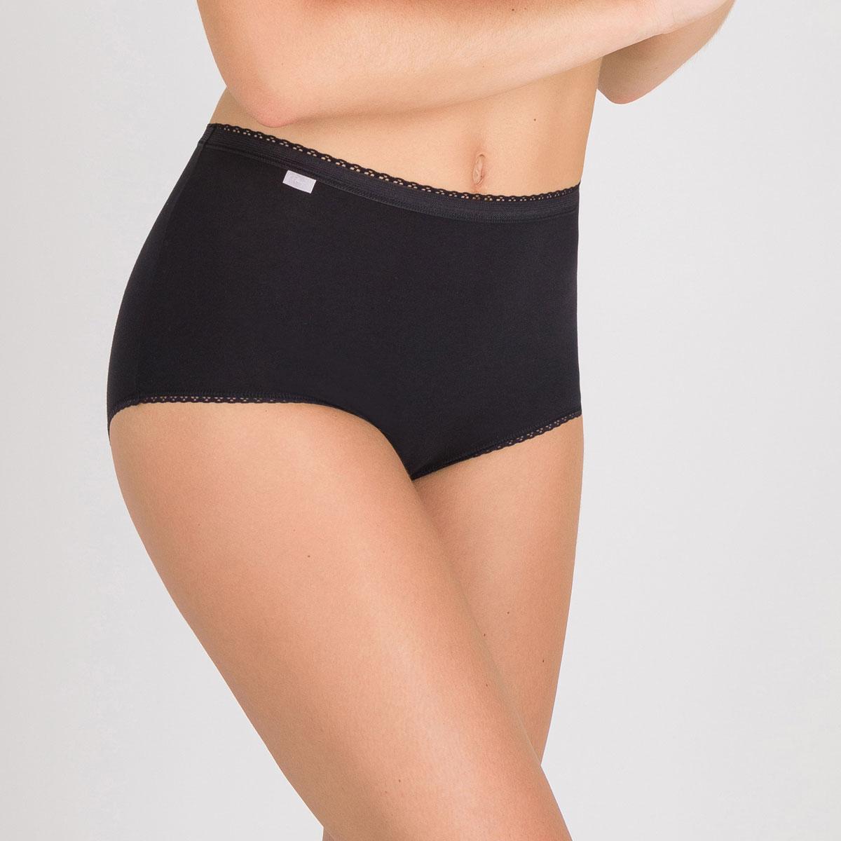 2 Culottes Maxi noires – Coton Stretch-PLAYTEX