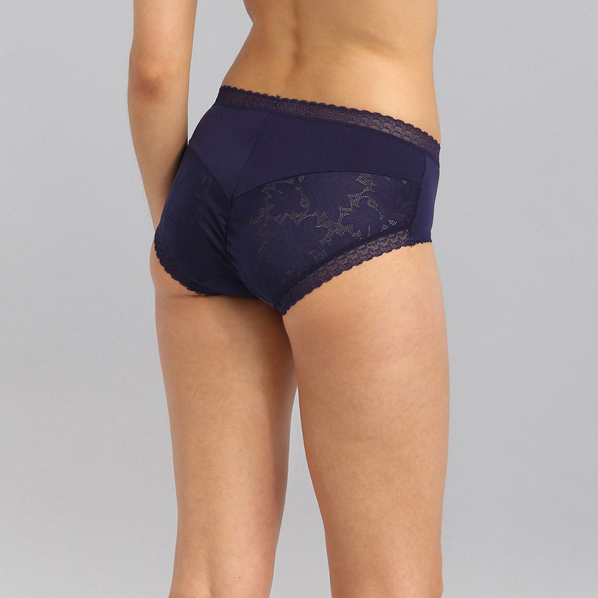 Culotte midi dentelle bleu marine Invisible Elegance, , PLAYTEX
