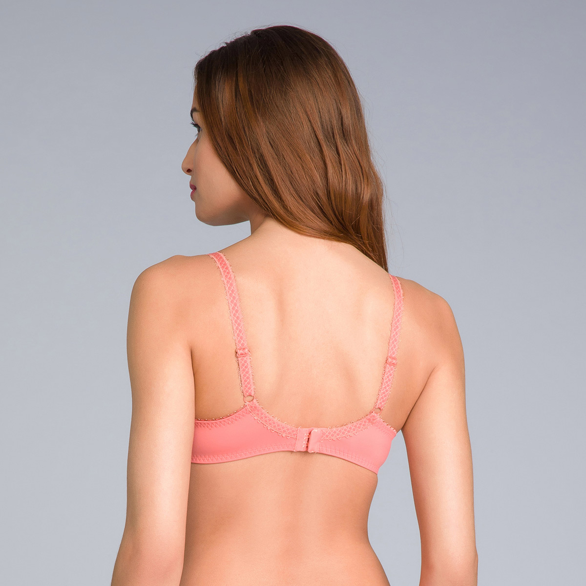 Soutien-gorge emboîtant dentelle orange cannelle - Flower Elegance, , PLAYTEX