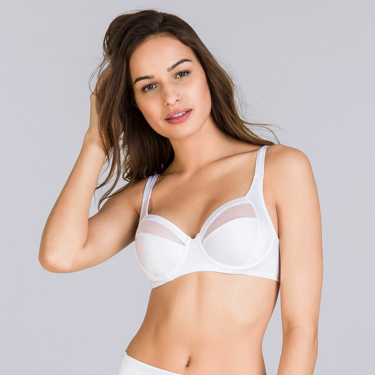 Soutien-gorge emboîtant tulle blanc Perfect Silhouette, , PLAYTEX