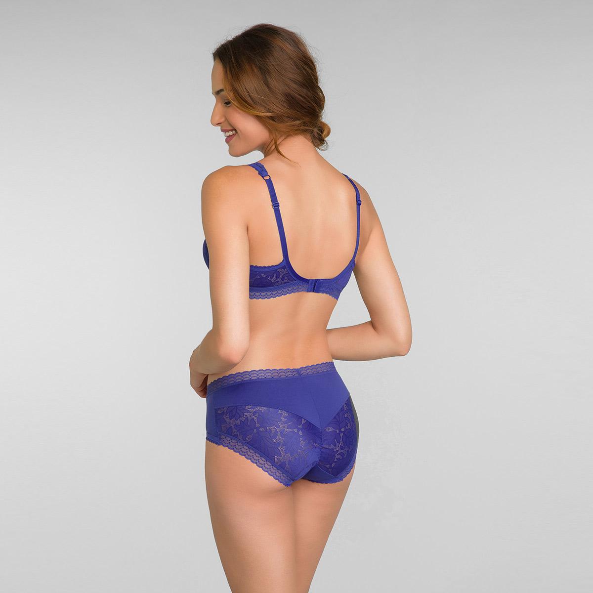 Culotte midi invisible bleu intense Invisible Elegance, , PLAYTEX