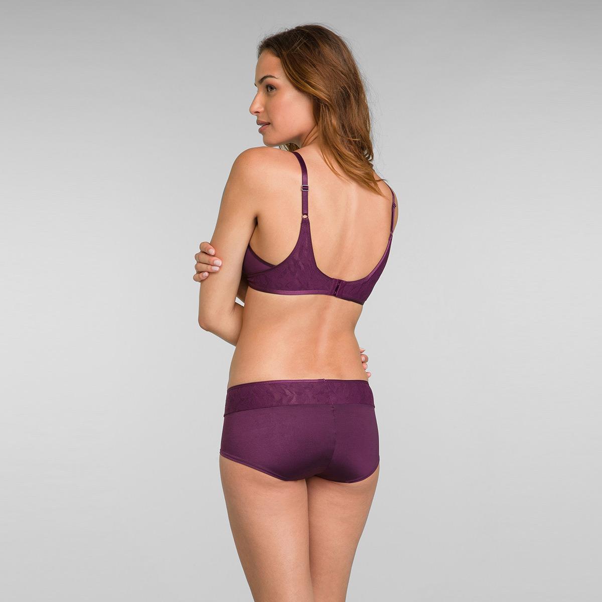 Soutien-gorge dentelle prune sans armatures Ideal Beauty Lace, , PLAYTEX