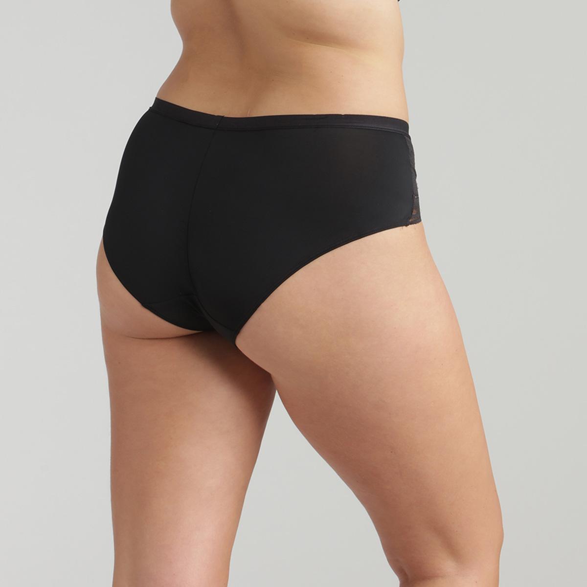 Culotte midi noire Secret Comfort, , PLAYTEX