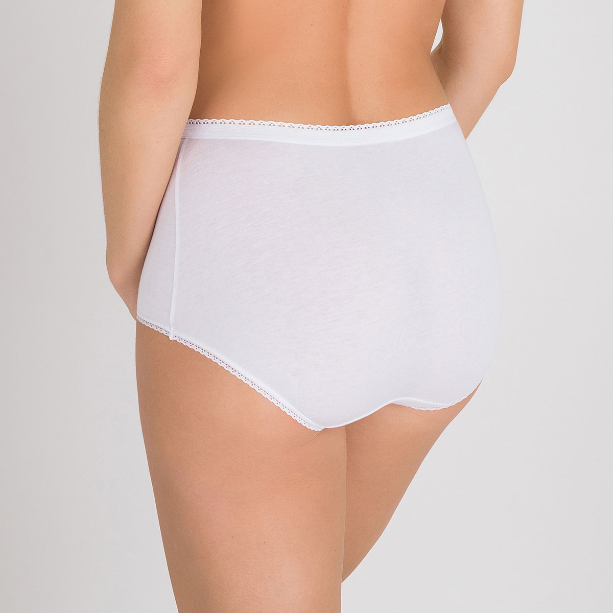 2 Culotte Maxi blanches – Coton Stretch-PLAYTEX