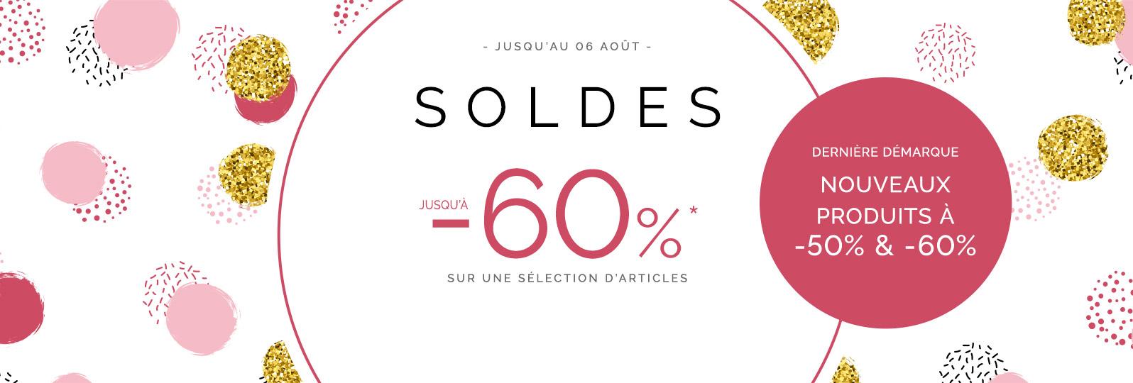 Soldes - jusqu'à -60%* sur une sélection d'articles