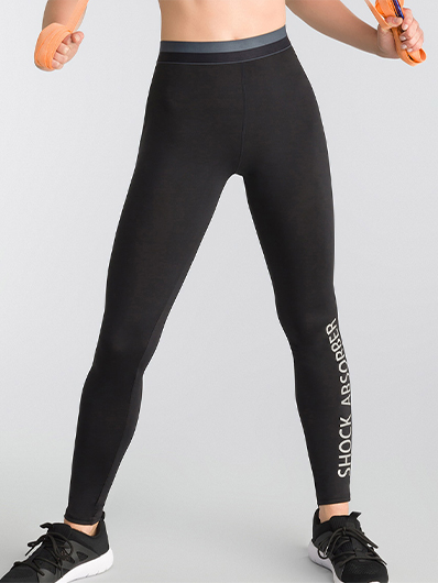 Legging sport femme coloris noir Active Wear Shock Absorbe